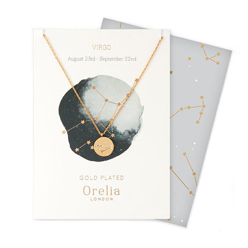 Orelia Constellation Disc Necklace - Virgo