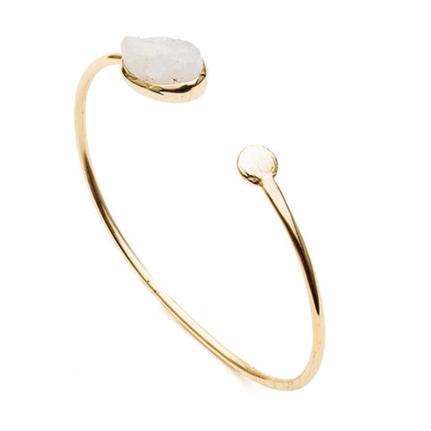 Azuni Athena Open Bangle - Moonstone