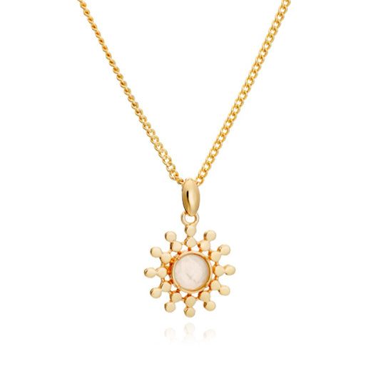 Azuni - Azuni Etrusca Sun Drop Necklace - Designer Necklaces - Silverado