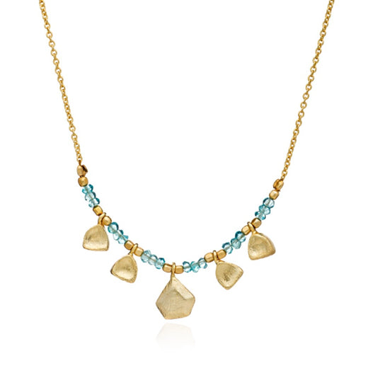 Azuni - Azuni Apatite Beaded Necklace - Designer Necklaces - Silverado