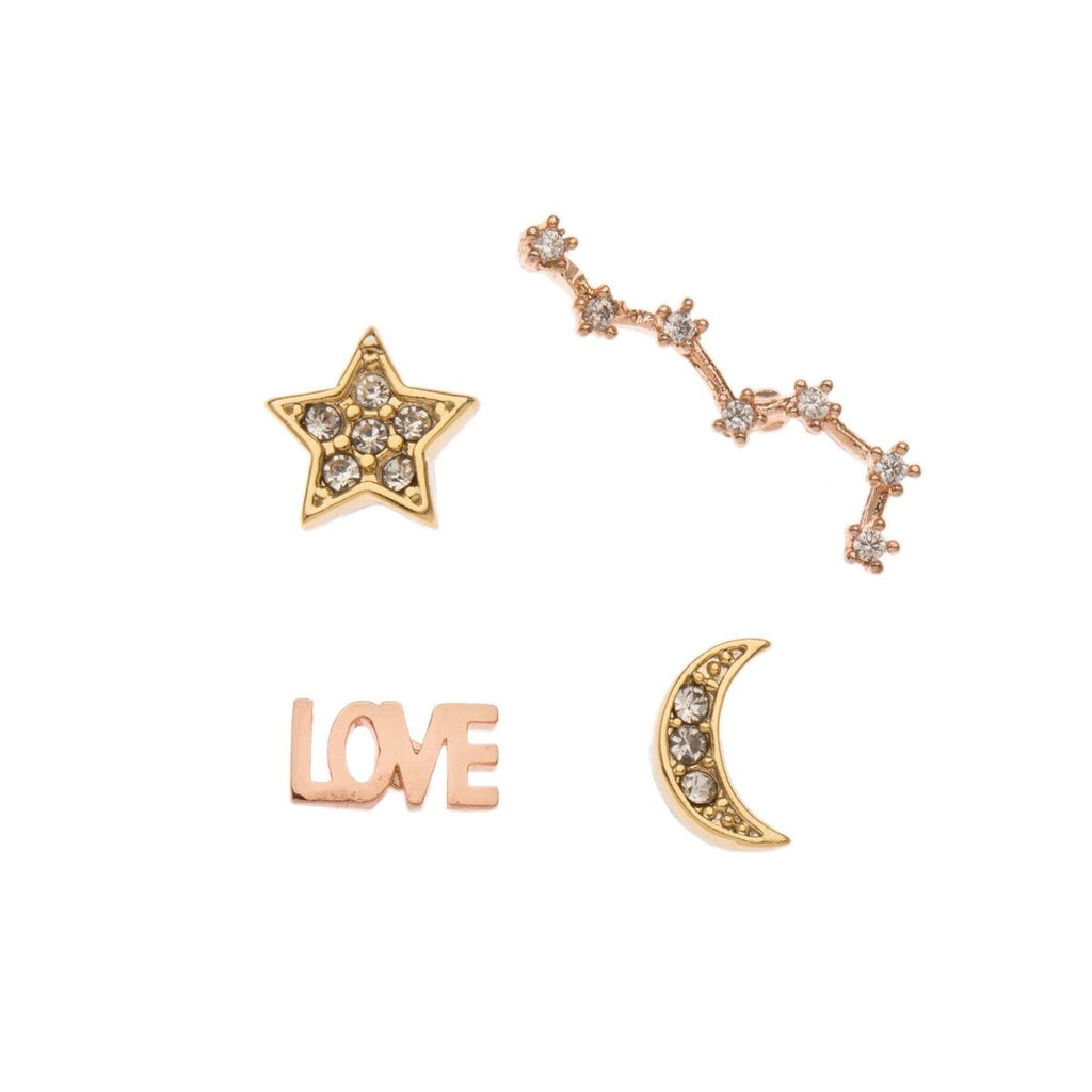 Orelia - Orelia Sparkly Pin Badges - Silverado - Accessories