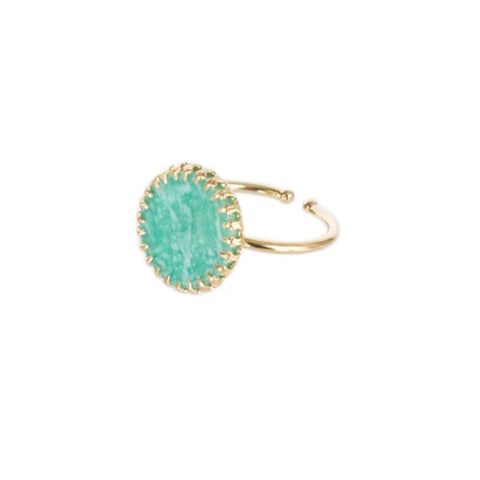 Medecine Douce Amazonite Phedre Ring