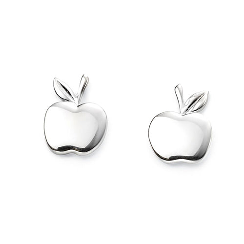 Sterling Silver - Apple Earrings - Silver Earrings - Silverado