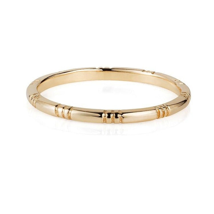 Laura Lee - Laura Lee 9ct Gold Banded Ring - Designer Rings - Silverado