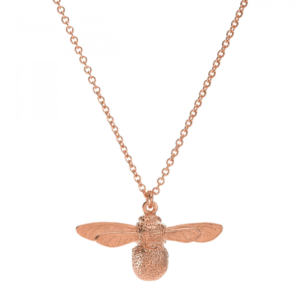 Alex Monroe - Alex Monroe Rose Gold Baby Bee Necklace - Designer Necklaces - Silverado