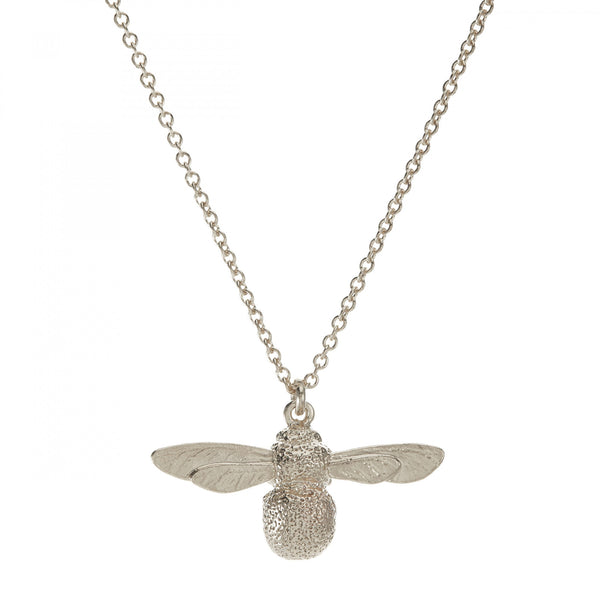 Alex Monroe - Alex Monroe Silver Baby Bee Necklace - Designer Necklaces - Silverado