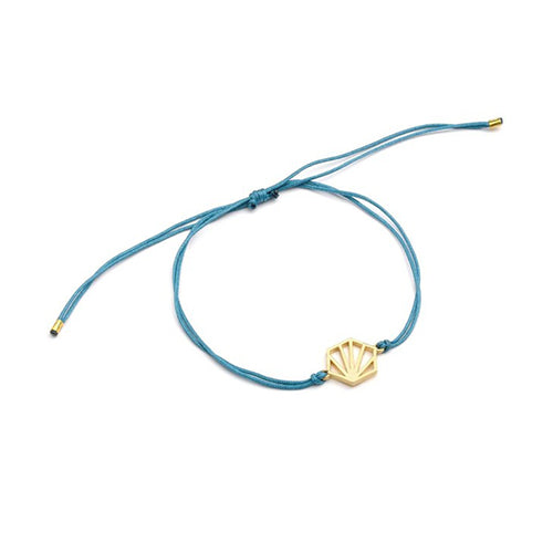 Rachel Jackson Sale - Rachel Jackson Hexagon Friendship Bracelet - Blue and Gold - Designer Bracelets - Silverado