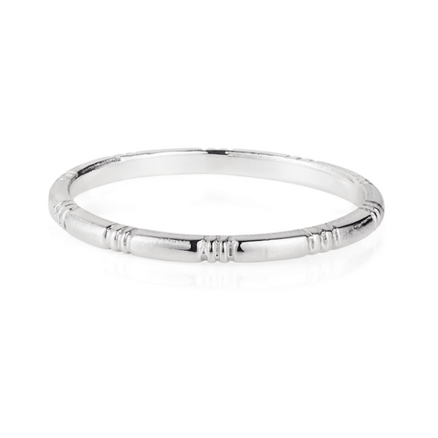 Laura Lee Silver Banded Ring