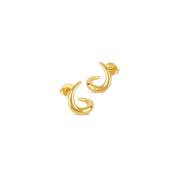 Dinny Hall - Dinny Hall Small Toro Twist Studs - Designer Earrings - Silverado