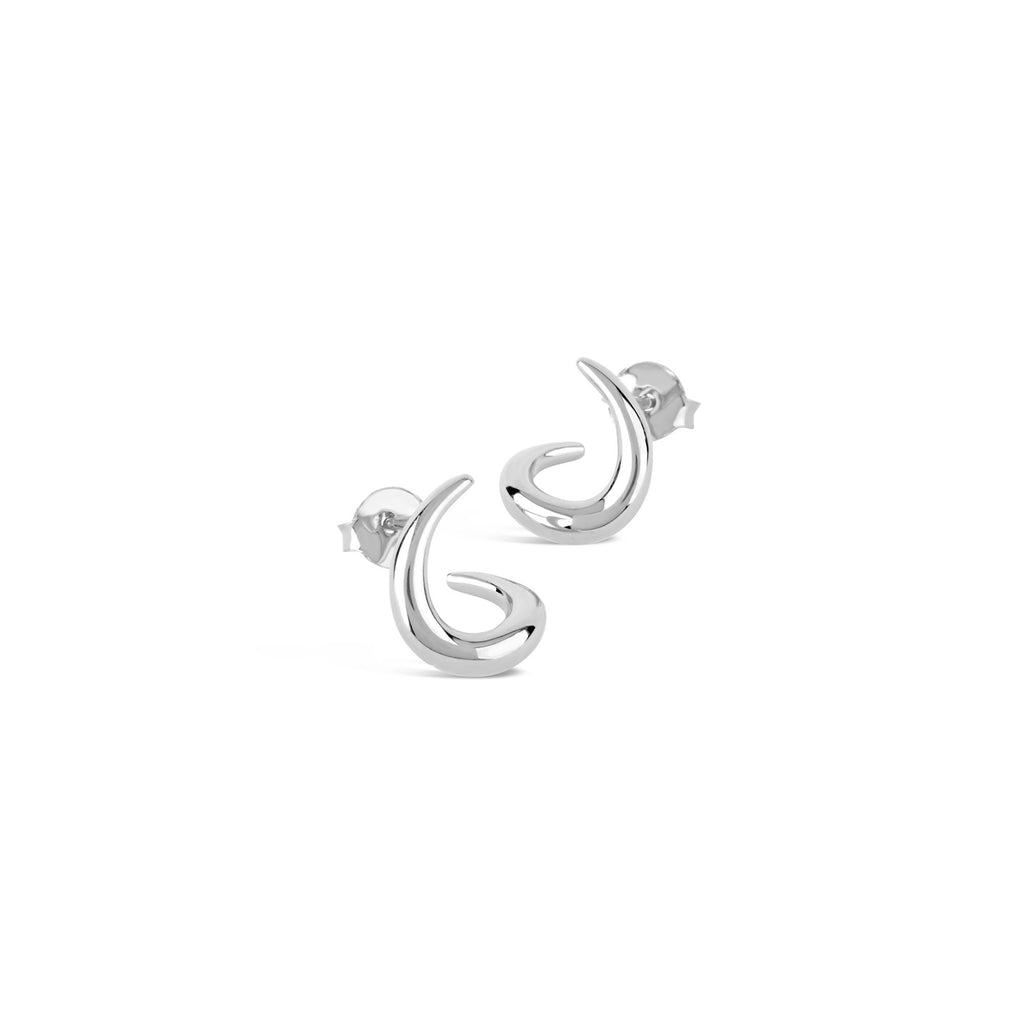 Dinny Hall - Dinny Hall Small Silver Toro Twist Studs - Designer Earrings - Silverado