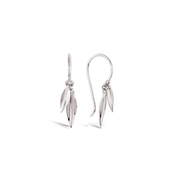 Dinny Hall - Dinny Hall Lotus Double Leaf Silver Drop Earrings - Designer Earrings - Silverado