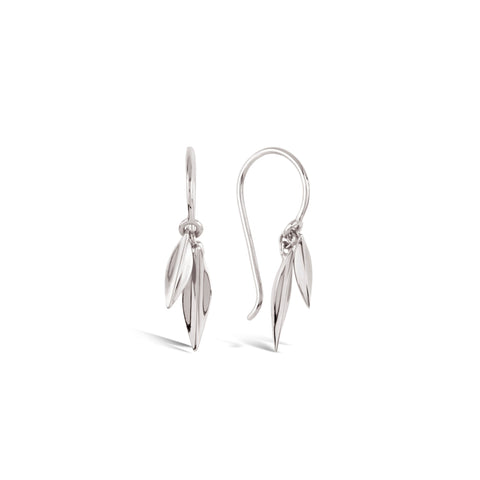 Dinny Hall Lotus Double Leaf Silver Drop Earrings