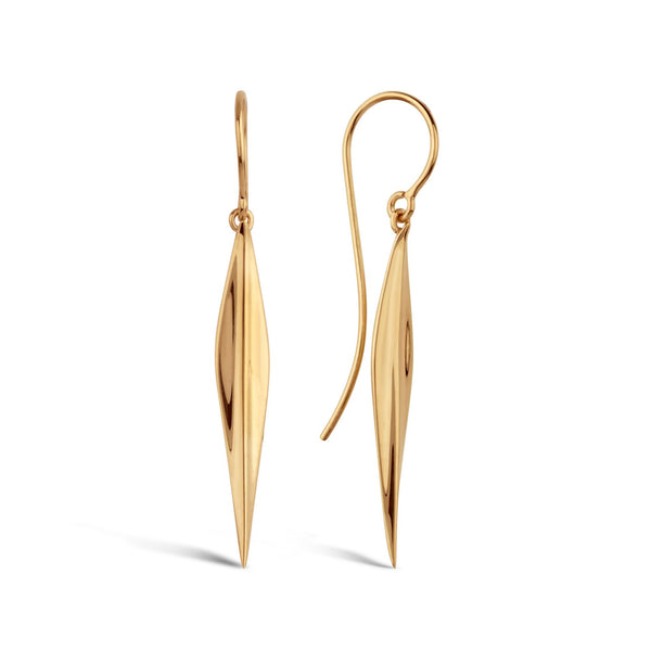 Dinny Hall - Dinny Hall Gold Lotus Long Petal Drops - Designer Earrings - Silverado