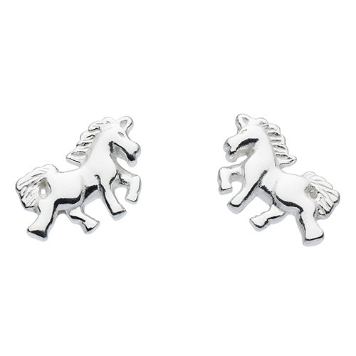 Sterling Silver - Unicorn Studs - Silver Earrings - Silverado