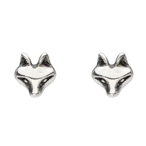 Sterling Silver - Fox Studs - Silver Earrings - Silverado