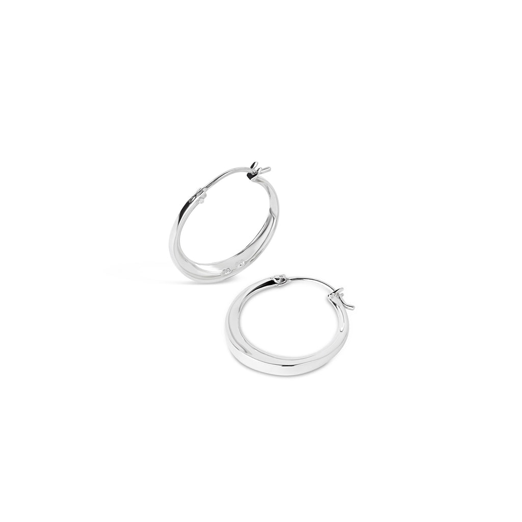 Dinny Hall - Dinny Hall Silver Signature Small Hoops - Designer Earrings - Silverado