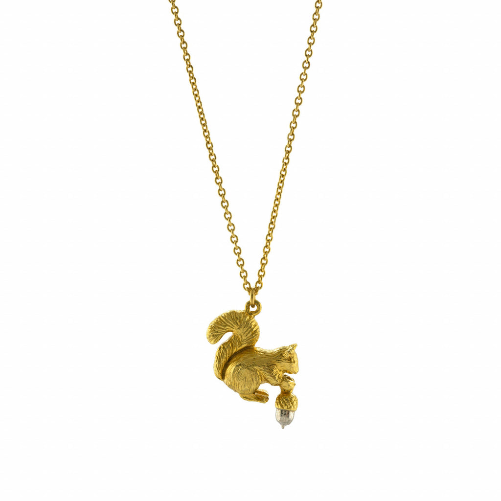 Alex Monroe Squirrel and Acorn Necklace