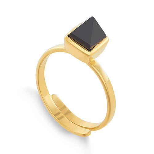 SVP Jewellery Black Spinel 'Rock the Casbah' Ring