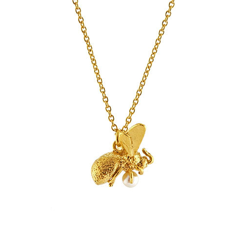 Alex Monroe - Alex Monroe Flying Bee Necklace - Designer Necklaces - Silverado