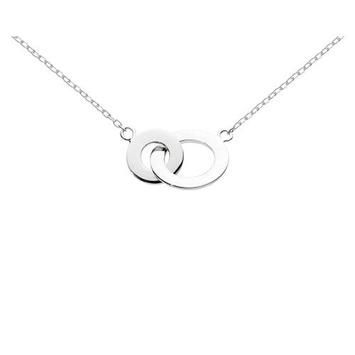 Sterling Silver - Double Flat Loop Necklace - silver necklaces - Silverado