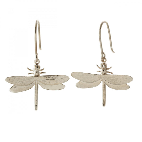 Alex Monroe - Alex Monroe Silver Dragonfly Drops - Designer Earrings - Silverado