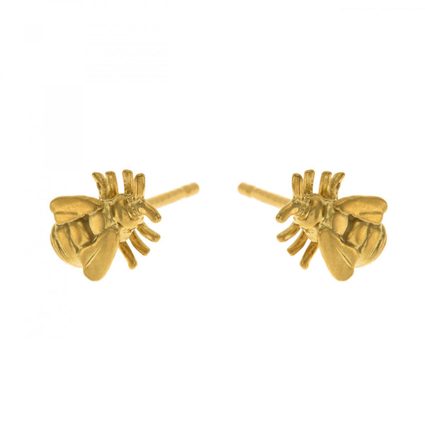 Alex Monroe - Alex Monroe Little Bee Stud Earrings - Designer Earrings - Silverado