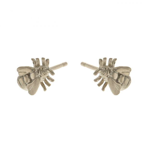Alex Monroe - Alex Monroe Silver Little Bee Stud Earrings - Designer Earrings - Silverado