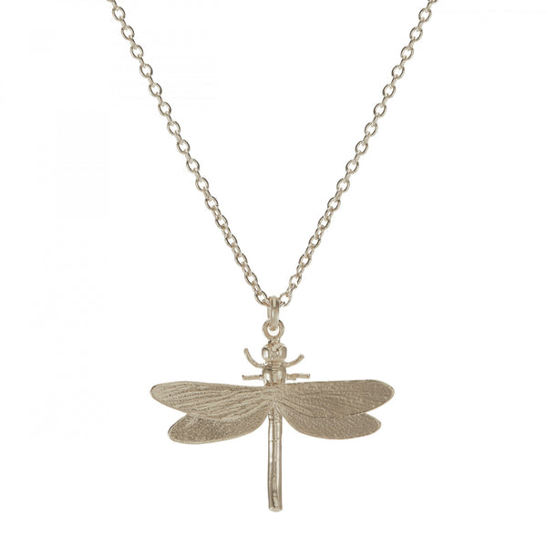 Alex Monroe - Alex Monroe Silver Dragonfly Necklace - Designer Necklaces - Silverado