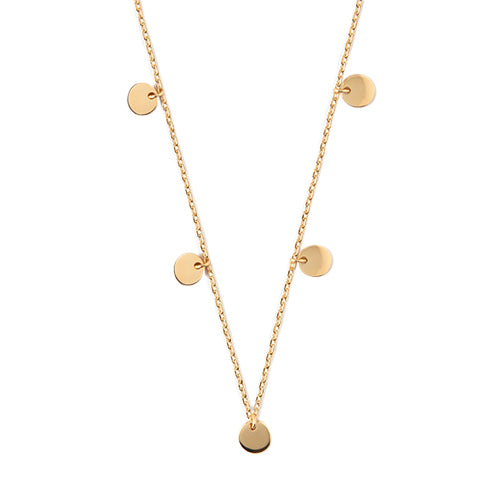 Orelia Gold Disc Charm Necklace