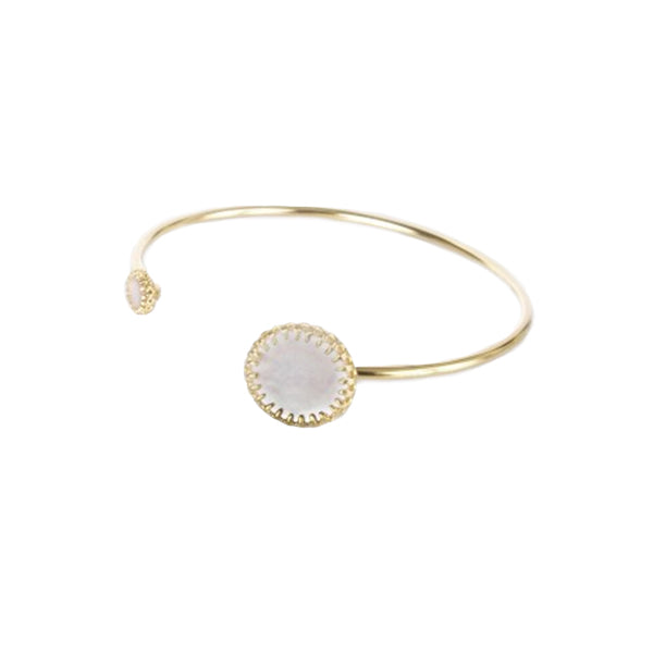Medecine Douce - Medecine Douce Mother of Pearl Phedre Bangle - Designer Bracelets - Silverado