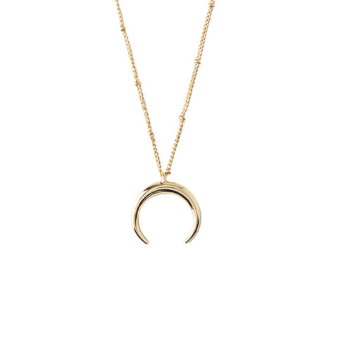 Orelia LUXE Crescent Charm Necklace