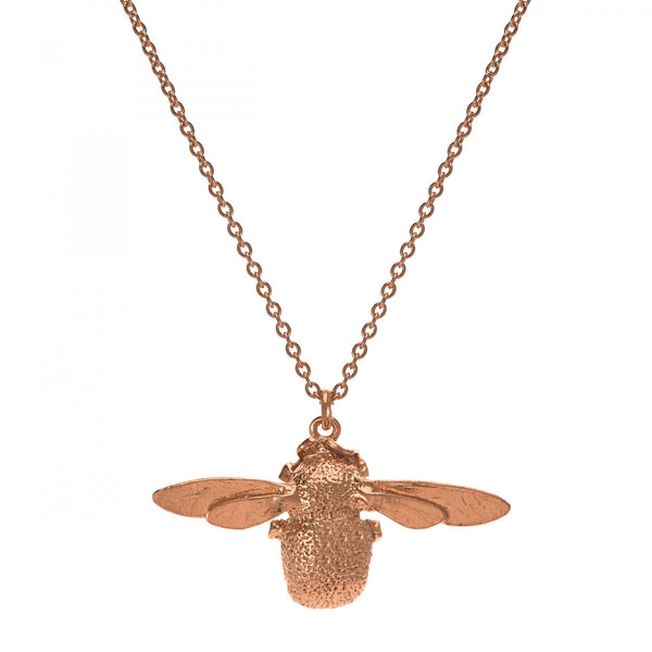 Alex Monroe - Alex Monroe Rose Gold Bumblebee Necklace - Designer Necklaces - Silverado