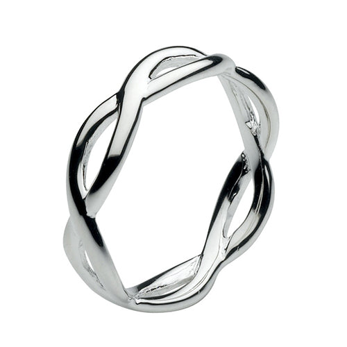 Silver Open Twist Ring