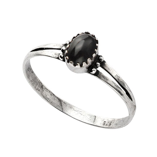 Oval Black Onyx Ring