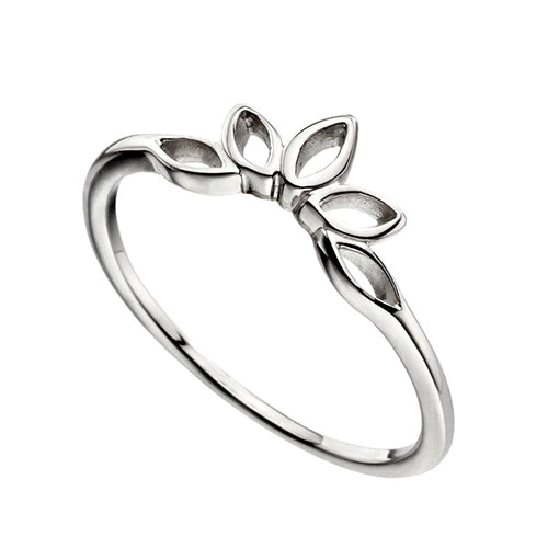 Sterling Silver - Open Marquise Stacking Ring - Silver Rings - Silverado