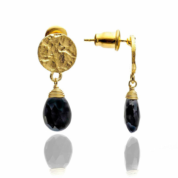 Azuni - Azuni Black Onyx Drop Earrings - Designer Earrings - Silverado