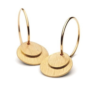 Pernille Corydon - Pernille Corydon Small Coin Hoops - Designer Earrings - Silverado