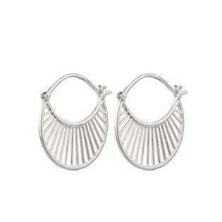 Pernille Corydon Silver Daylight Hoop Earrings Pernille Corydon Designer Earrings Silverado Jewellery