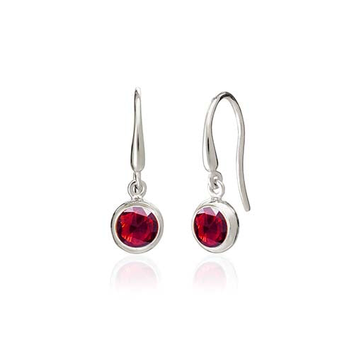 Rodgers and Rodgers Silver Birthstone Earrings - January
