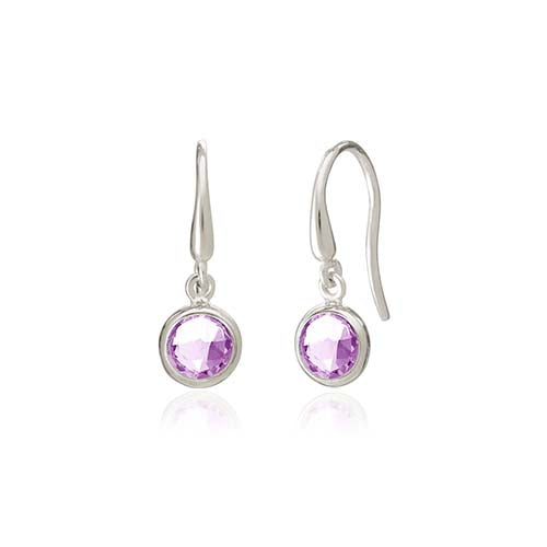 Rodgers and Rodgers Silver Birthstone Earrings - February