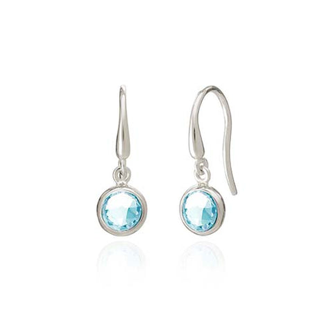 Rodgers and Rodgers Silver Birthstone Earrings - March
