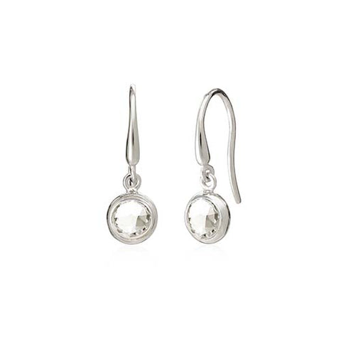 Rodgers and Rodgers Silver Birthstone Earrings - April
