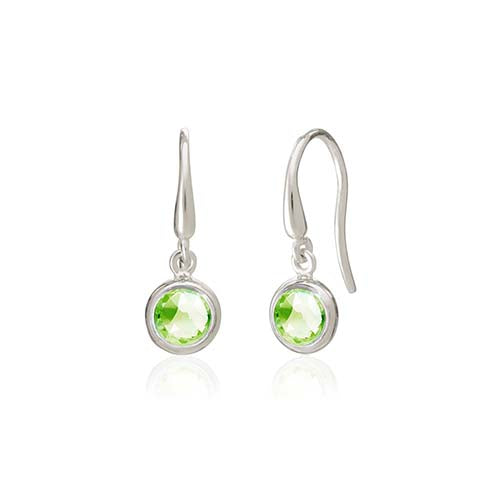 Rodgers and Rodgers Silver Birthstone Earrings - August