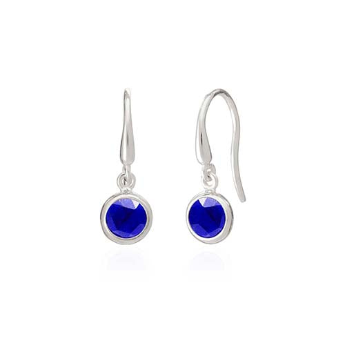 Rodgers and Rodgers Silver Birthstone Earrings - September