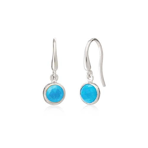 Rodgers and Rodgers Silver Birthstone Earrings - December