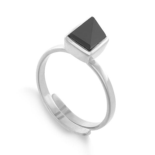 SVP Jewellery Silver and Black Spinel 'Rock the Casbah' Ring