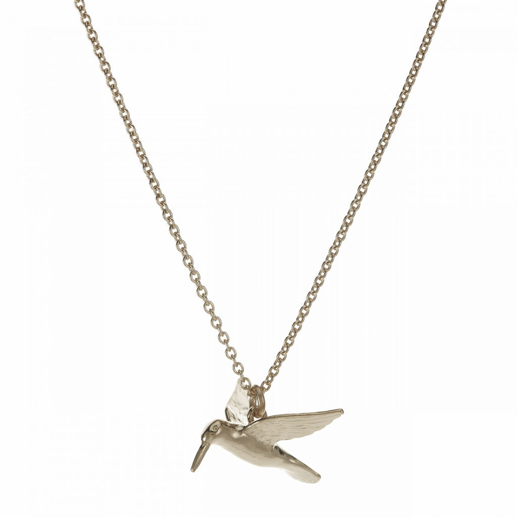 Alex Monroe - Alex Monroe Hummingbird Necklace - Designer Necklaces - Silverado