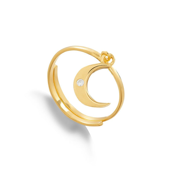 SVP Jewellery Supersonic Moon Charm Ring