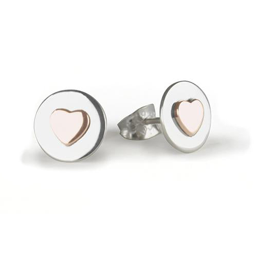 Tales From The Earth Love Circles Earrings - Rose Gold