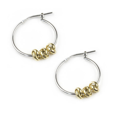 Tales From The Earth Three Knot Hoops - Gold